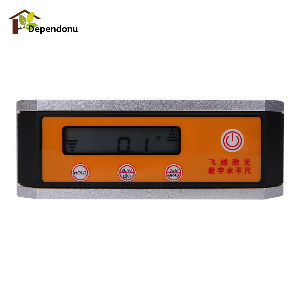 DIU# 360 degrees Digital Protractor Inclinometer Angle Meter with Magnetic V-Groove Base digital protractor inclinometer angle meter digital bevel box 4 x 90 degree range magnetic base