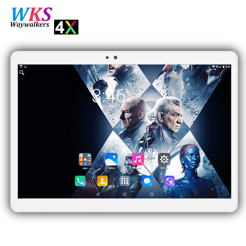 2018 free shipping 2.5D screen 10 inch Android 7.0 tablet pc 10 core 4GB+64GB 1920*1200 IPS Dual SIM card wifi Bluetooth tablets стоимость