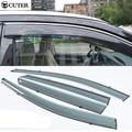 High quality 4PCS/SET Organic glass Auto Car Window Awnings Window Visor cover sticker rain shield for bmw X1 X2 X3 X4 X5 X6