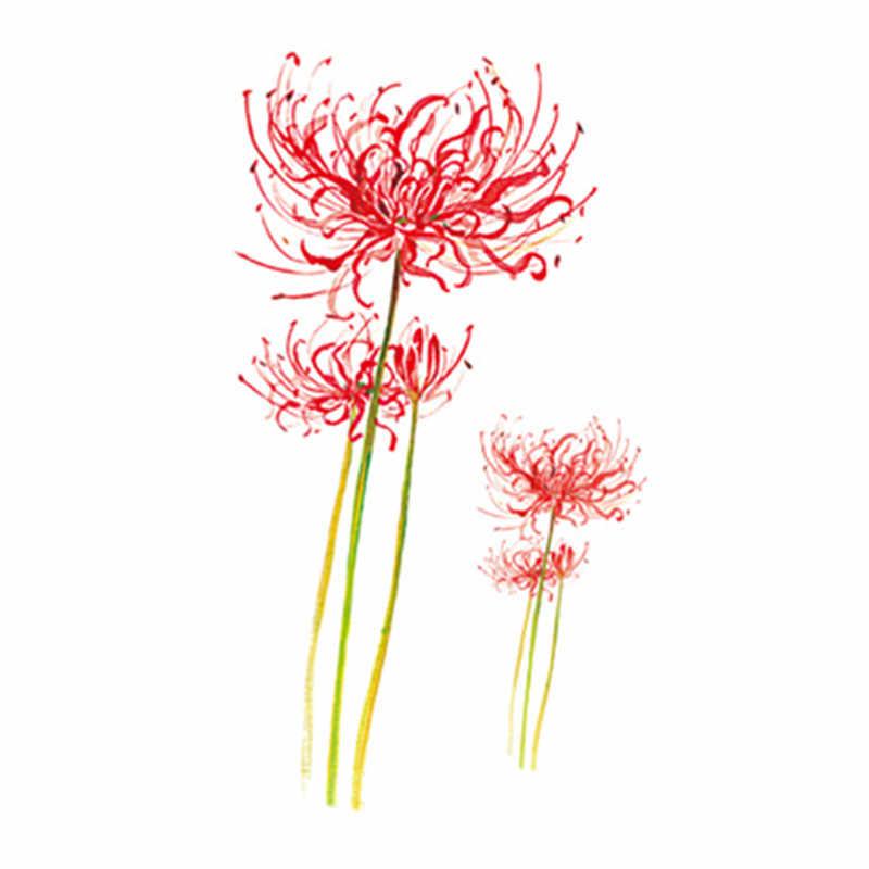 ورقة الوشم ملصق للماء المؤقتة وهمية الوشم النباتات الزهور شجرة الذراع الكتف اليد الفتيات الأطفال الاطفال الجسم الفن 10.5X6 سنتيمتر