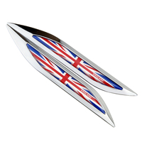 3D Metal Car Door Fender Side UK Flag Emblem Badge Rear Trunk Sticker For Toyota C