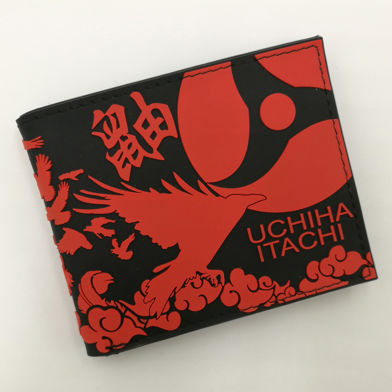 Waterproof Purse of Anime Naruto Shippuden Akatsuki Uchiha Itachi/Red Cloud Silica Short Wallet Type B pu short wallet w colorful printing of naruto shippuden uchiha itachi