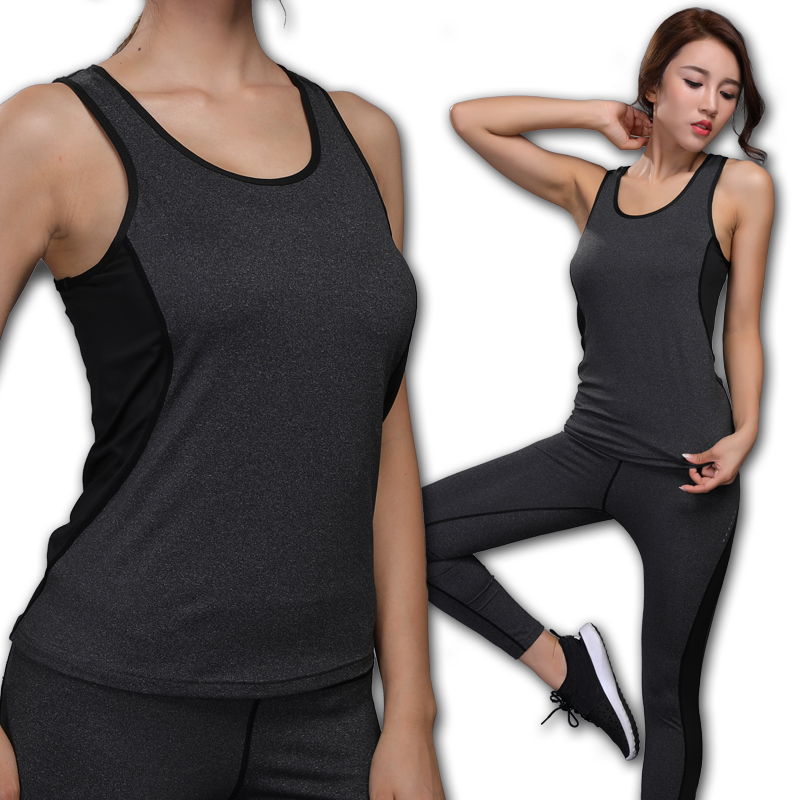 Yoga Vest Sleeveless Solid Color Loose Quick Drying Running Gym Sport Yoga Shirt Women Fitness Tank Top Womens Fitness Vest
