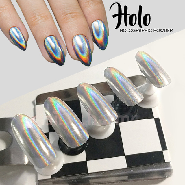 1g/Box New 2017 Rainbow Shinning Nail Glitter Powder Holographic Powder Nails Dust Laser Holo nail art decorations Pigment