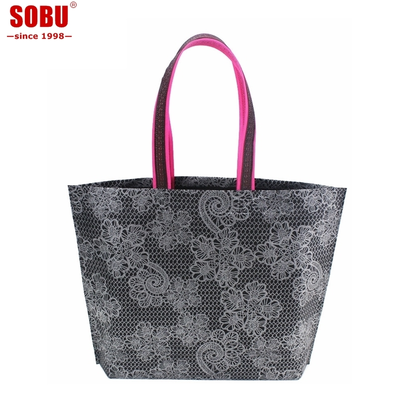 1PCS Fashion Women Shopping Bag Reusable Shopping Bag Non-Woven Fabric Bags Folding Handbag R014 new folding portable shopping bag shopping buy food trolley bag on wheels bag on wheels buy vegetables shopping organizer bag