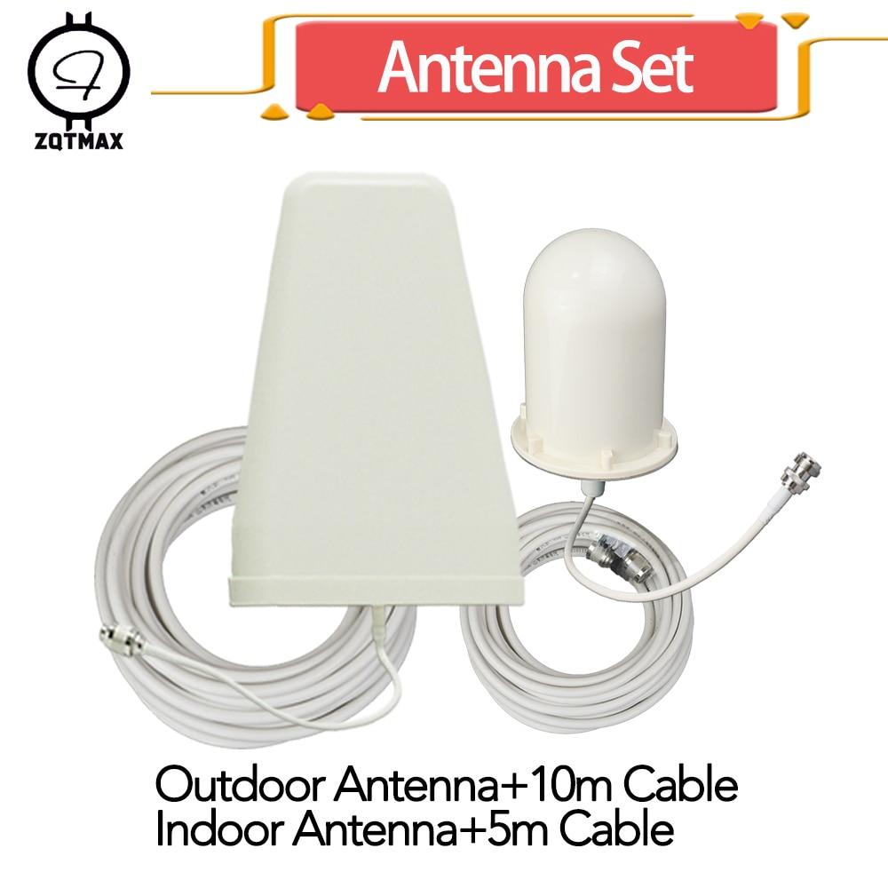 Antenne ZQTMAX Onmi + antenne 2g 3g 4g antenne extérieure LPDA Yagi pour amplificateur de signal de téléphone portable amplificateur cellulaire internet lte