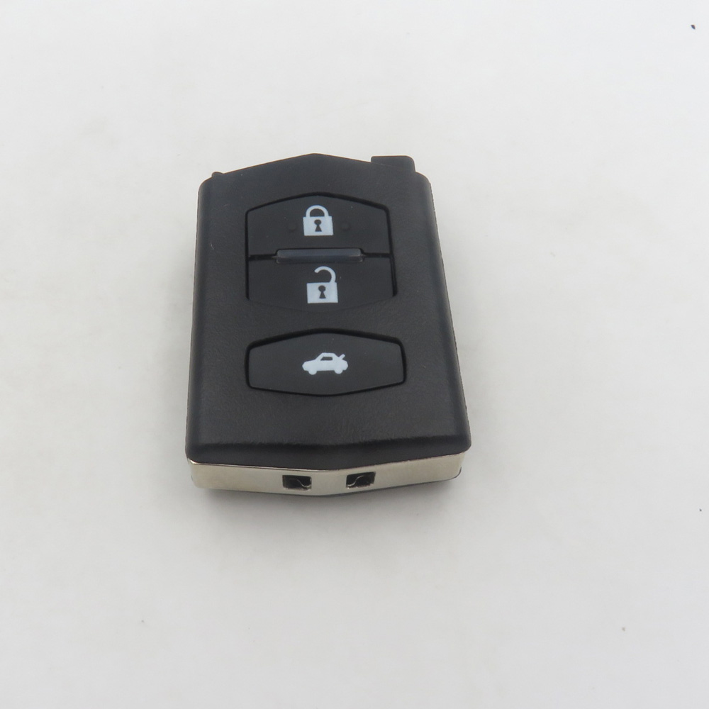 Folding Car Remote Key Replacement Black Shell Case Fob 3 buttons For Mazda 2 3 5 6 MX5 <font><b>RX8</b></font> Cocolockey image