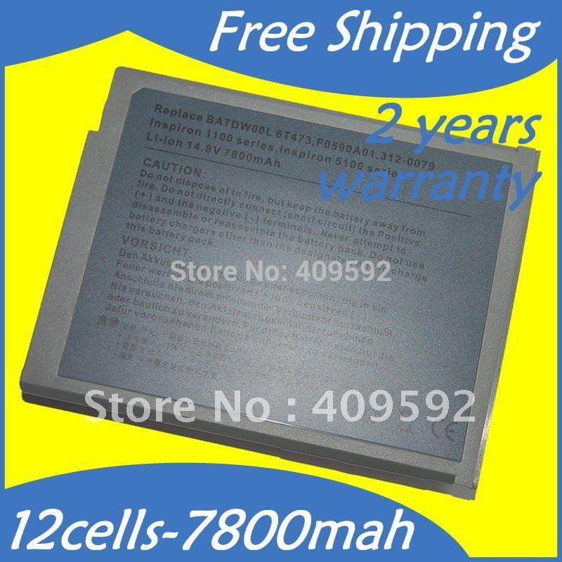 Batterie d'ordinateur portable Pour Dell 310-5205 310-5206 312-0079 312-0296 451-10117 451 -10183 6T473 7T670 J2328 8Y8499T686 BATDW00L F0590A01