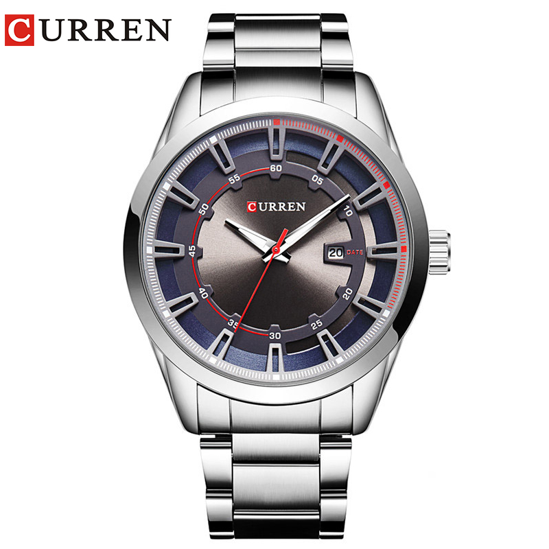 Curren 2019 Luxury Brand Strap Men 39 s Quartz Fashion Casual Dress Wristwatch Date Display Analog in Quartz Watches from Watches