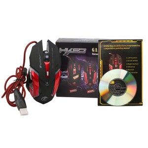 Image 5 - HXSJ 3200 DPI USB Professionale Wired Rapido In Movimento HA CONDOTTO LA Luce Con 6 Pulsanti Gaming Mouse Per Il computer portatile