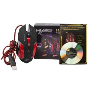 Image 5 - HXSJ 3200 DPI professionnel USB filaire rapide lumière LED avec 6 boutons souris de jeu pour ordinateur portable