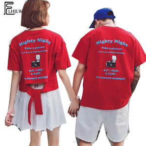 becf97f87978 FLHJLWOC Clothes T-Shirts Summer Crop Top T Shirt Couple