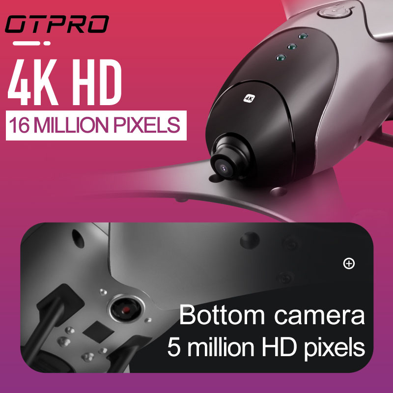 OTPRO PM9 mini Drone rc WIFI FPV quadrirotor Profession double caméra 4K 1600p ou 5mp otpro HD vidéo maintien d'altitude retour automatique