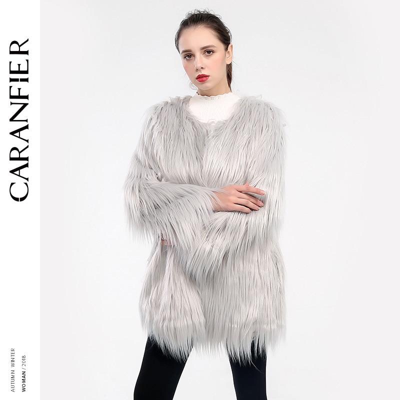 0a0f8680c5a1b Women Winter Thicken Warm Leopard Faux Fur Coat Elegant Long Sleeve Artificial  Fur Jacket Hairy Greatcoat ...