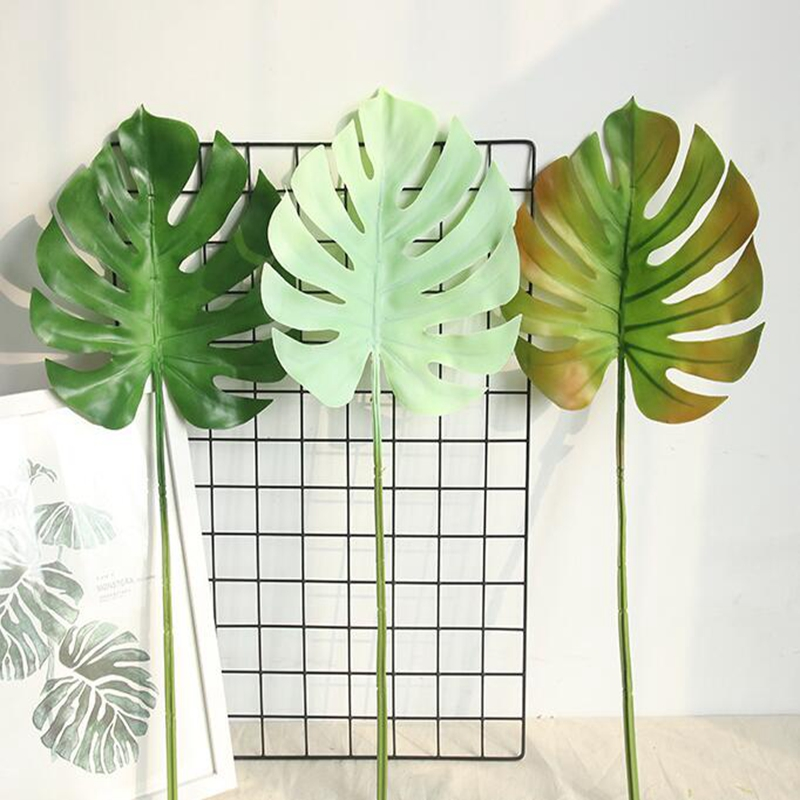 1 Pc Mexican Autumn Green Turtle Artificial Plant Material Leaf Simulation Tropical Decoration