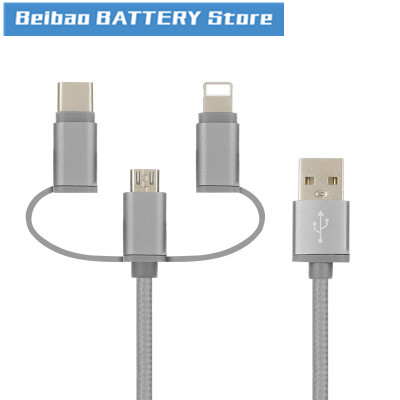 Trinity Data Line For Apple Android TYPE-C Lexus Trinity Braided Data Line 3 In 1 USB Cable Line