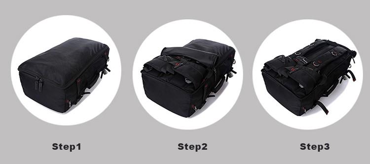 KAKA Men Backpack Travel Bag Large Capacity Versatile Utility Mountaineering Multifunctional Waterproof Backpack Luggage Bag 8