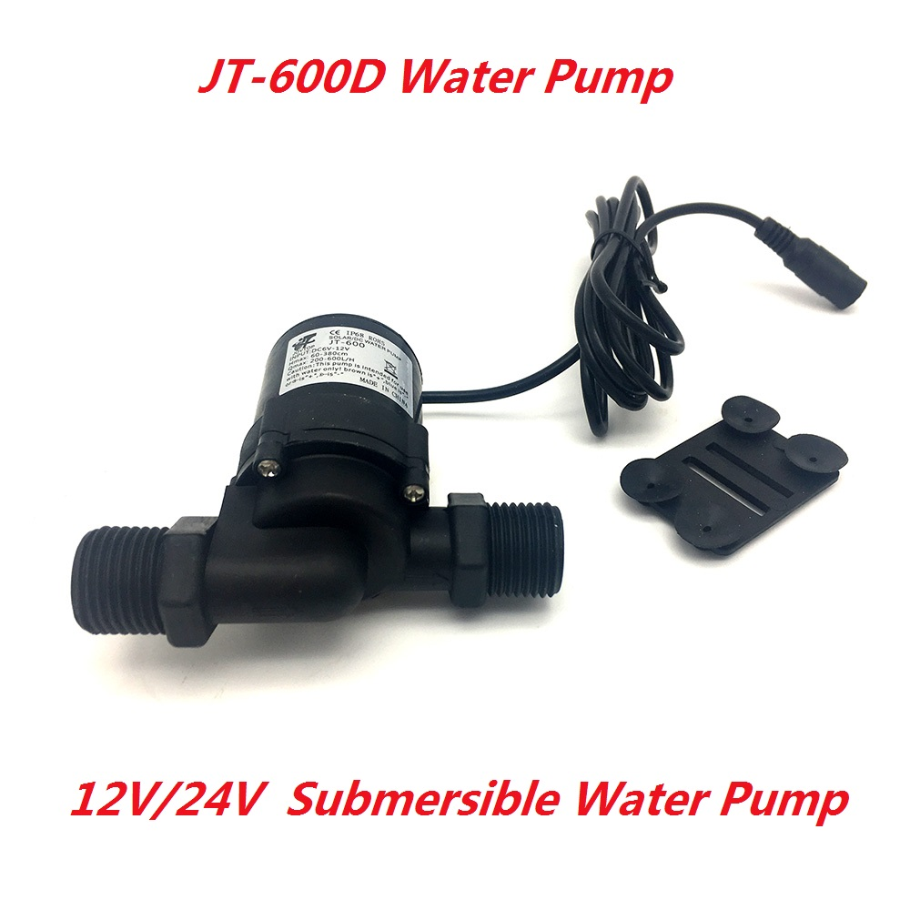 Electric 600D Water Circulation Pump DC 12V 24V Brushless Motor Submersible Water Pump Max Lift 5M