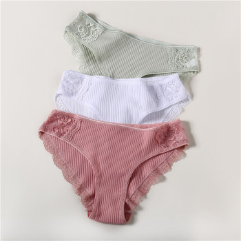Skin-friendly Comfortable Cotton Women's Panties 3 Piece Set 3