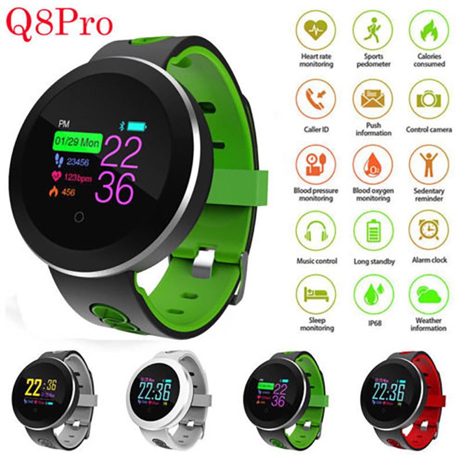 цена на Smart Bracelet Bluetooth 4.0 Heart Rate Monitor Smart Watch Men for Android iOS Oxygen Monitoring IP68 Waterproof Sport Watch