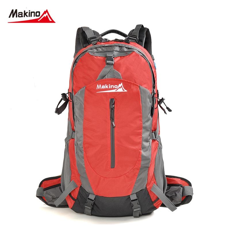 ФОТО Makino Hot Sale Hiking Backpacks Sports Bag Big Capacity Climb Knapsack Outdoor Leisure School Backpacks Bags 40L 4 Colors