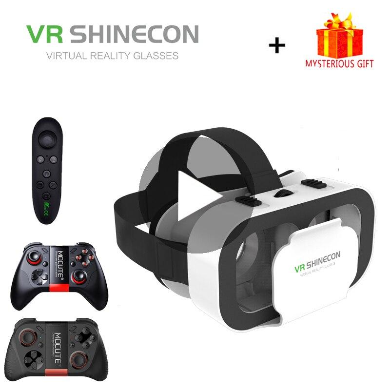 VR Shinecon G05A Casque 3D lunettes réalité virtuelle pour iPhone Android Smartphone lunettes de téléphone intelligent Casque Len Lunette de jeu