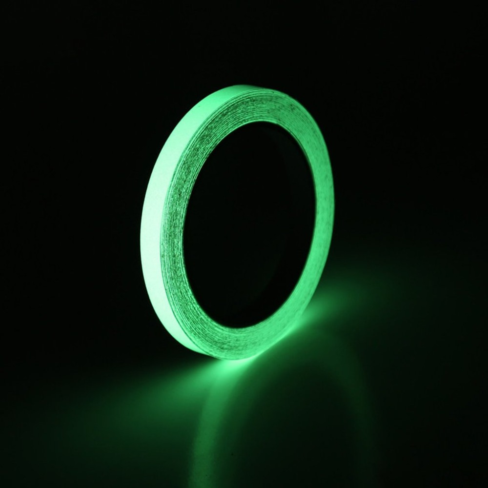 10mm*10m Glow Tape Safety Sticker Removable Luminous Fluorescent Acrylic Self-adhesive Sticker Party Stage Household Decoration