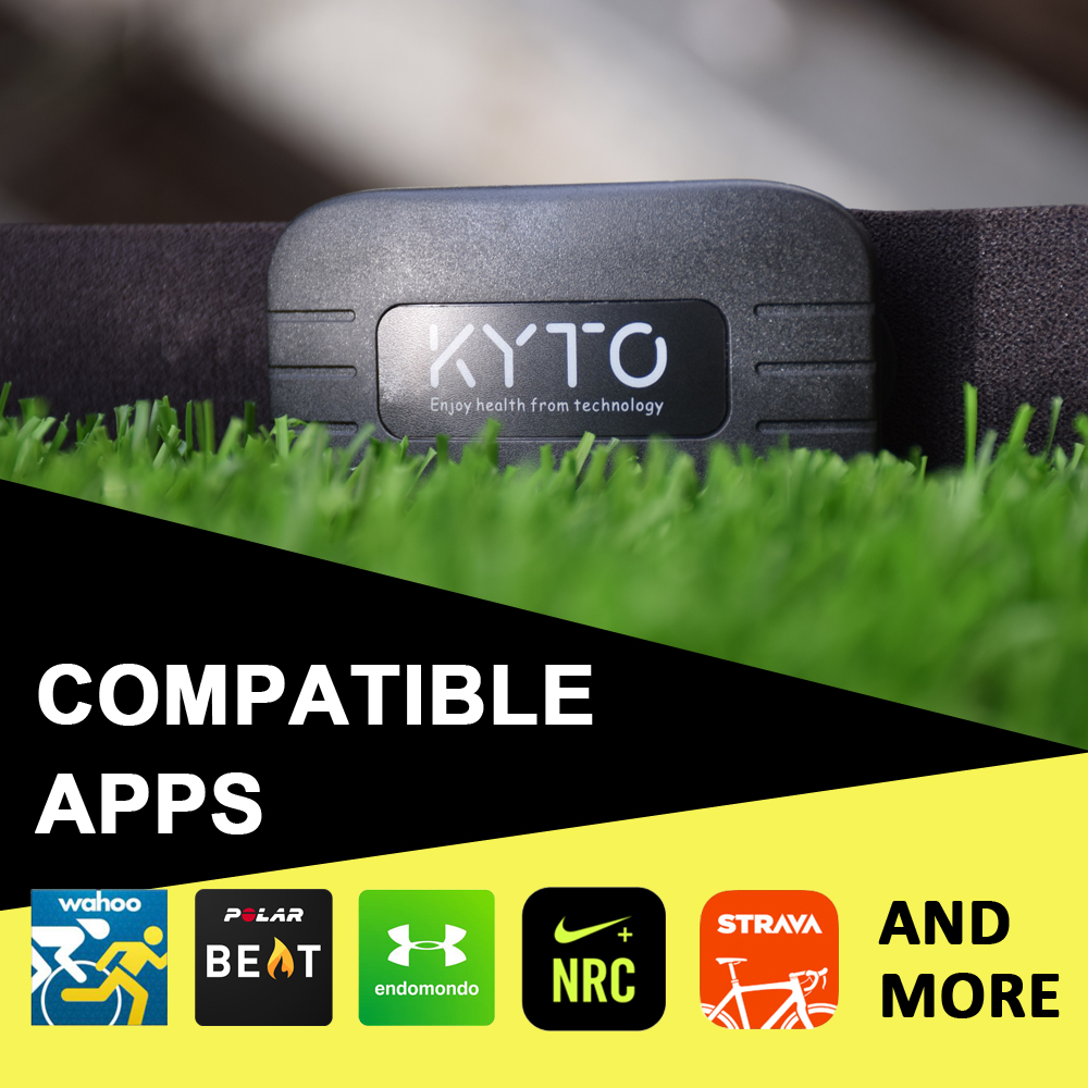 KYTO Heart Rate Monitor Chest Strap Bluetooth 4.0 ANT Fitness Sensor Compatible Belt Wahoo Polar Garmin Connected Outdoor Band-2
