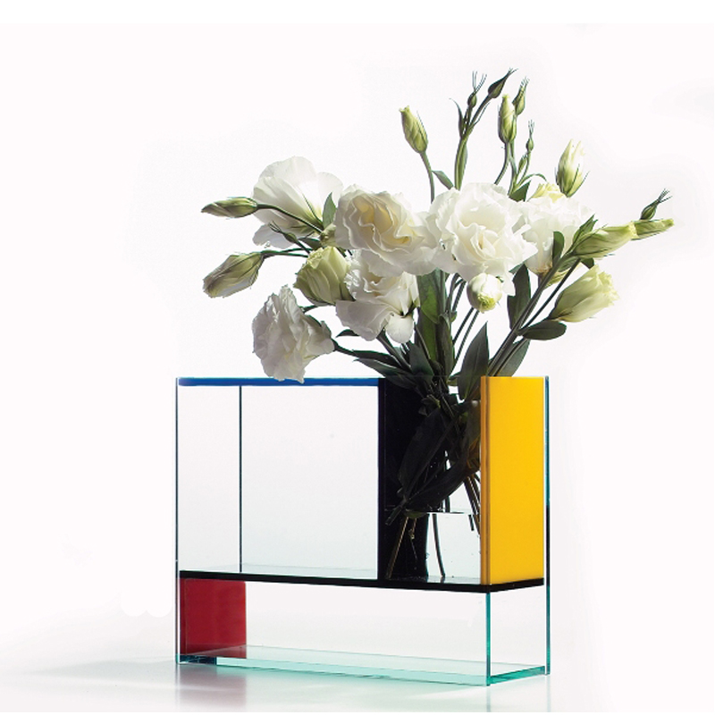 Denmark po mondri vase mondrian multifunction plexiglass for Mondrian vase