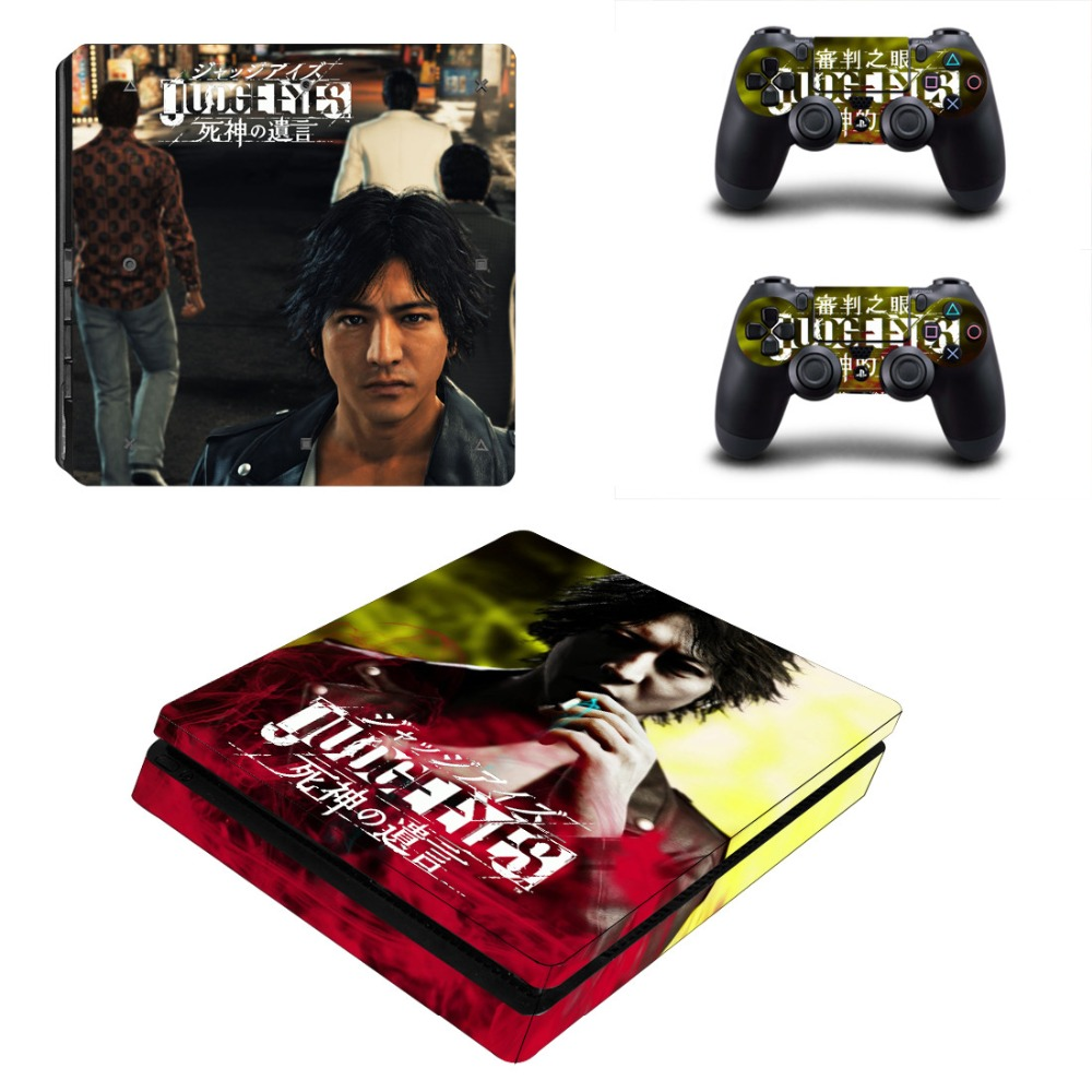 JUDGE EYES:Death's last words PS4 Slim Skin Sticker Decal for PlayStation 4 Console and Controller PS4 Slim Skins Sticker Vinyl image