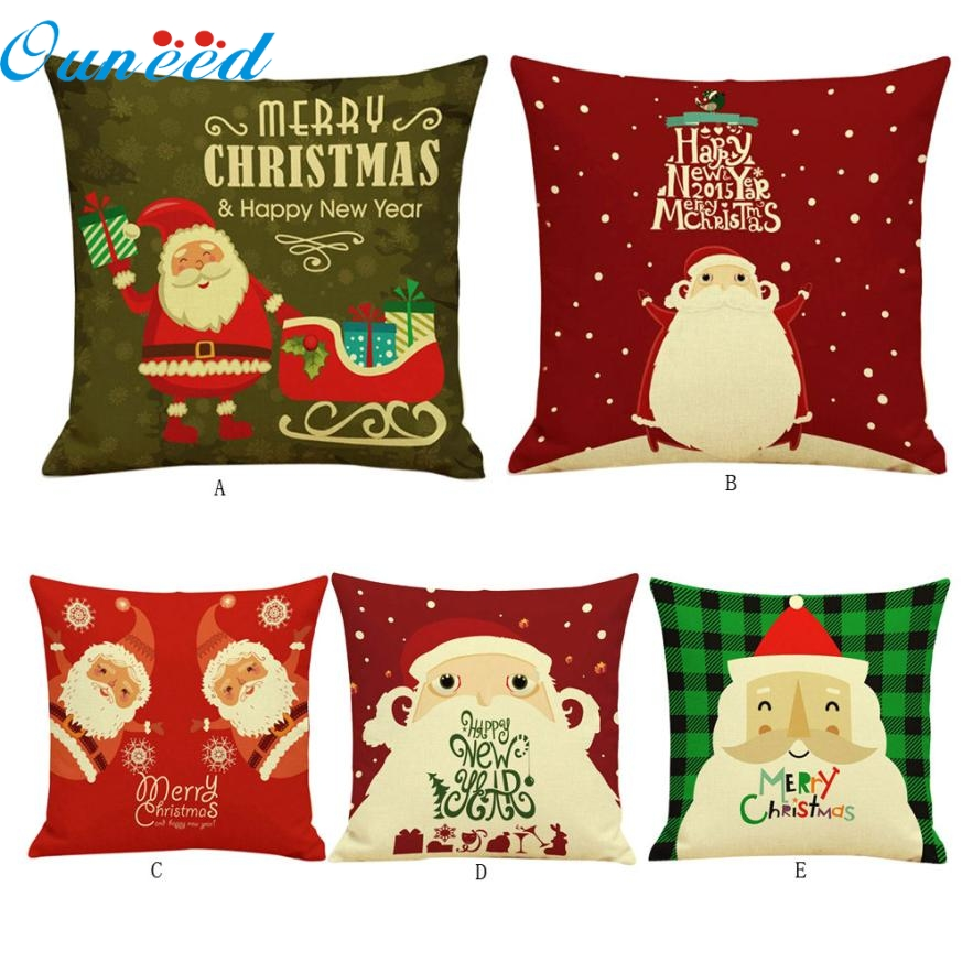 SP 28 Mosunx Business 2016 Hot Selling Christmas Cartoon Sofa Bed Home Decoration Festival Pillow Cushion Cove