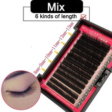 BRILLANT Mega Volume Thick Customized Extensions Soft 8-13mm Mixed Plant False Eyelash Grafting 0.07/0.10/0.12/0.15