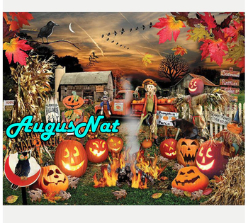 pumkins diamond painting halloween deocrative daimond mosaic diamant borderie puzzle picture crows diamont embroidery stickers image