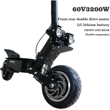 Electric scooter 60V45AH lithium battery 3200W high speed motor fold electric off-road scooter max speed 95km/h range 150km цена
