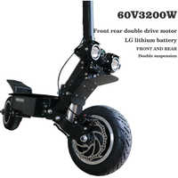 Electric scooter 60V45AH lithium battery 3200W high speed motor fold electric off-road scooter max speed 95km/h range 150km