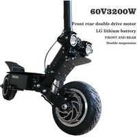 Scooter Eléctrico 60V45AH, batería de litio 3200 W, motor de velocidad alta, escúter todoterreno eléctrico, velocidad máxima, 95 km/h, rango de 150km