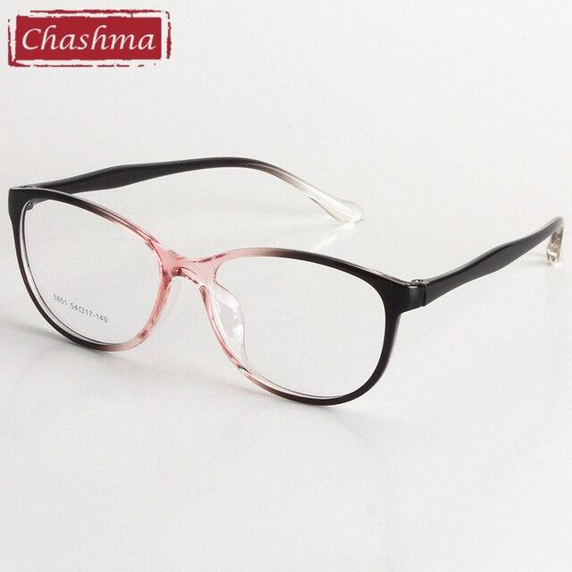 Chashma Brand TR 90 Cat Eyes Style Light Eyeglasses Myopia Spectacle Student Fashion Prescription Glasses Frame