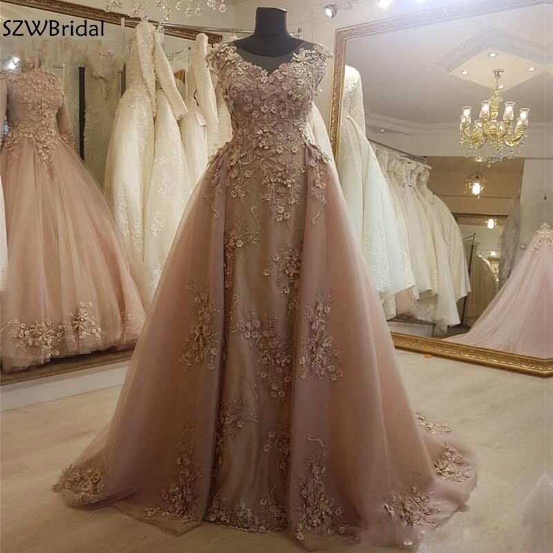 New Arrival A-Line Dubai Arabic Evening Dress 2020 Vestido Longo Festa Formal Engagement Dress Party Evening Gowns