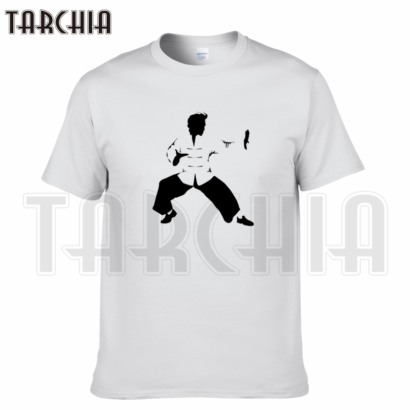 TARCHIA 2019 new summer brand kung fu Tai Chi t-shirt cotton tops tees men short sleeve boy casual homme tshirt t plus fashion
