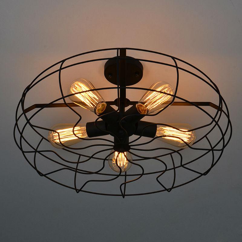 Ceiling Fan Pendant Light: Vintage Retro Industrial Fan Ceiling Lights American