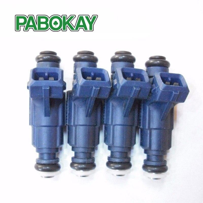 4ピースx流量一致した燃料噴射装置セット用vwアウディ1.8 0280156065 06B133551M  グループ上の 自動車 &バイク からの 燃料注入器 の中 1