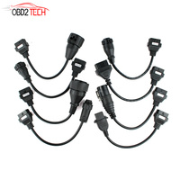 5pcs a lot Full Set 8 Truck Cables OBD2 Diagnostic Tool OBD OBDII OBD 2 Connect Cable For VD TCS CDP Pro Plus