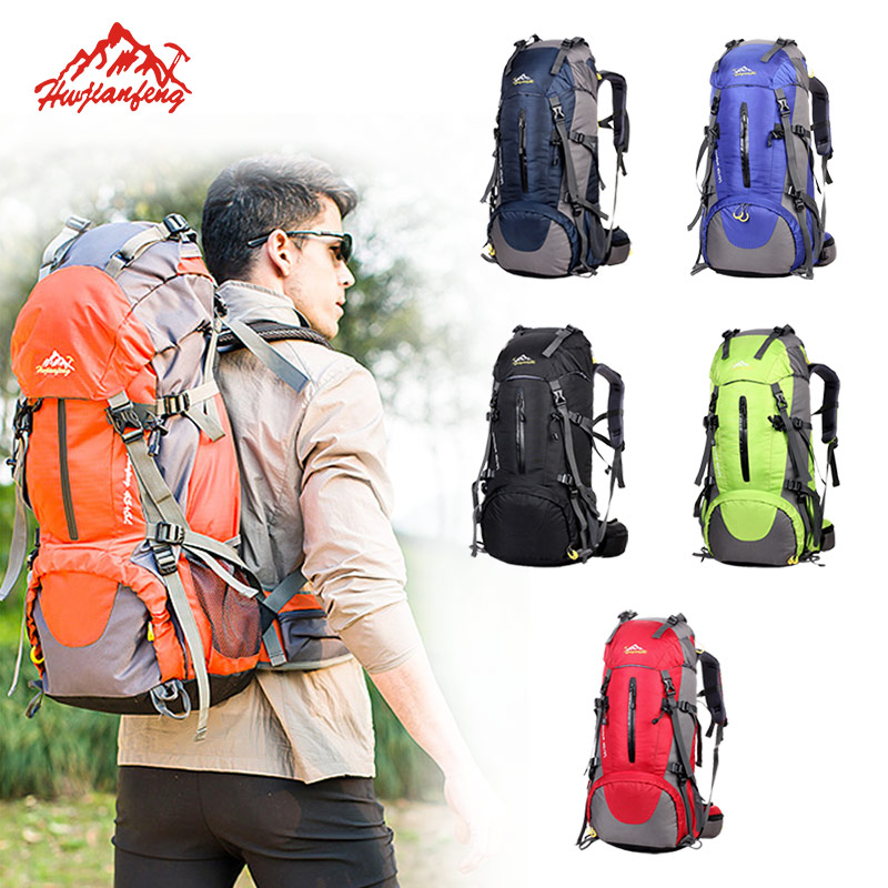 Travel Climbing Backpacks Men Travel Bags Waterproof 50L Hiking Backpacks Outdoor Camping Backpack Sport Bags Large Backpack Climbing Bags     - title=