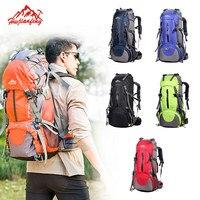 Viagem escalada mochilas sacos de viagem dos homens à prova d50água 50l caminhadas mochilas acampamento ao ar livre mochila esporte sacos grande mochila