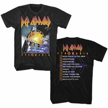 Def Leppard Pyromania Album Cover Men's T Shirt Heavy Metal Rock Band Tour Merch(China)