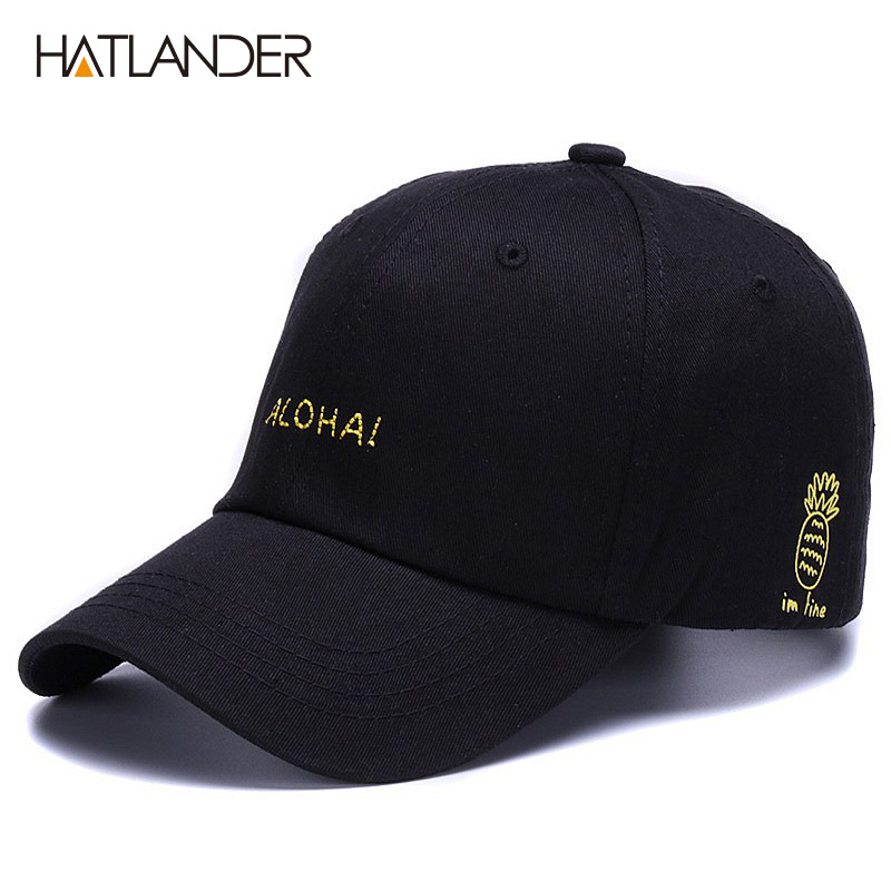 1ccdc99213a76 HATLANDER Embroidery ALOHAI Letters baseball caps for boys girls adjustable sport  hat vintage soft dad hats