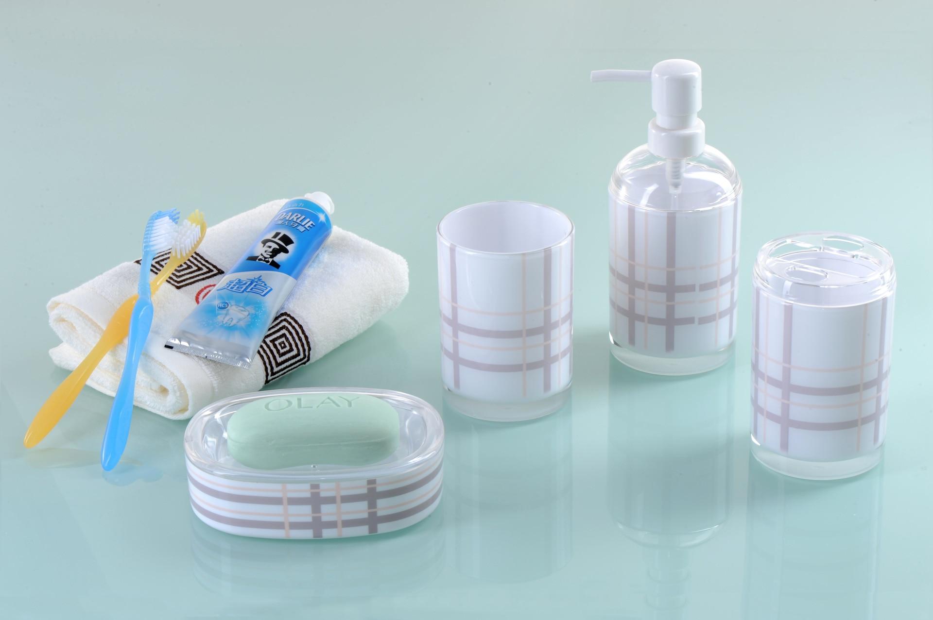 Blanc salle de bains accessoires achetez des lots petit for Accessoires de salle de bain blanc