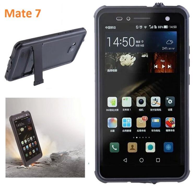 imágenes para Original Para Huawei Ascend Mate 7 caso A Prueba de agua de vida A Prueba de agua cubierta de la caja de Protección para huawei mate7 con soporte de nuevo