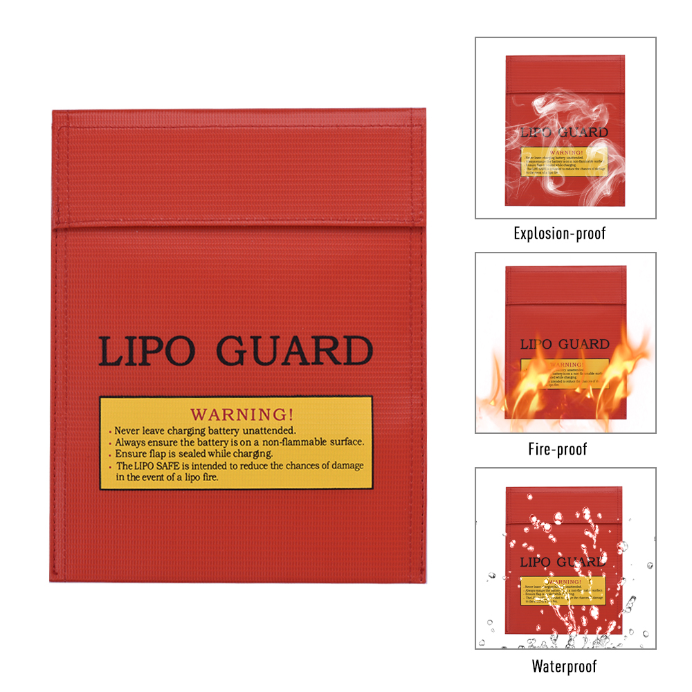 Protection Bags Lipo Battery Fireproof Explosion-proof Water-proof Safe Charging Storage Bags For Large Space Home Office Use