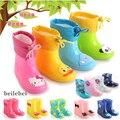 Envío libre Botas de Lluvia de Los Niños Muchachas de Los Bebés de Invierno en tubo Botas de Nieve zapatos de Bebé de la manera zapatos de Los Niños botas de goma